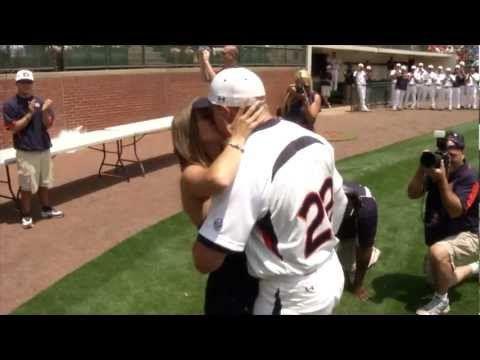 Auburn Baseball player Zach Blatt proposes to his girlfriend before beating Florida 5-4 on Senior Day