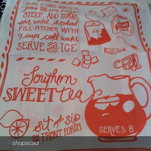Southern Sweet Tea Towels @shopSCAD