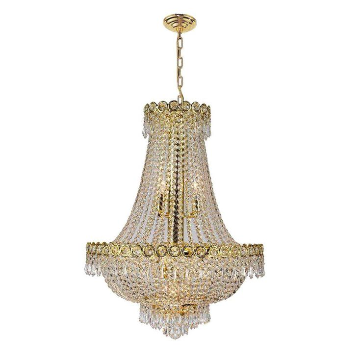 Worldwide Lighting Empire Collection 12 Light Polished Gold And
