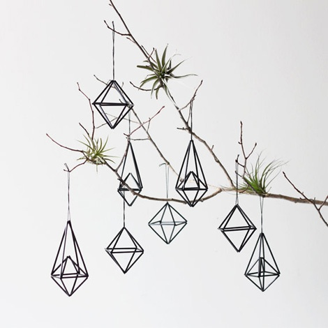 DIY himmeli decorations, black