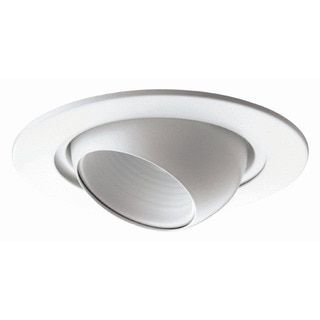 Raptor Lighting 6-inch Recessed Trim White Eye Ball Light Fixture (Case Pack of 4 Units) - 16785200 - Overstock - The Best Prices on Lighting Fixtures - Mobile