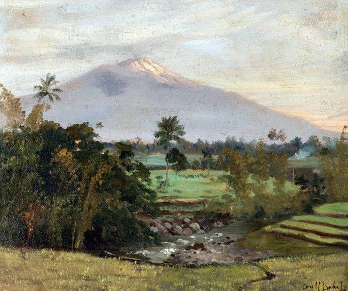 Carel Lodewijk Dake Jr. - Pemandangan Jawa dan Gunung