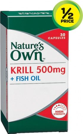 Nature's Own Krill 500mg + Fish Oil Pk 30^