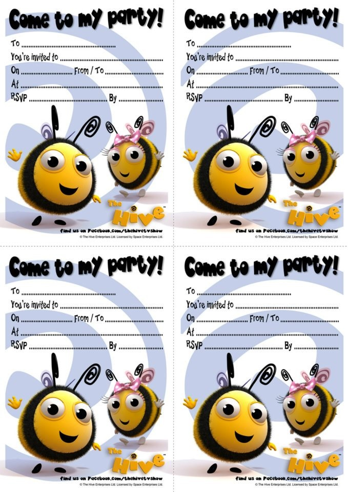 Enjoy These Party Invites From The Hive