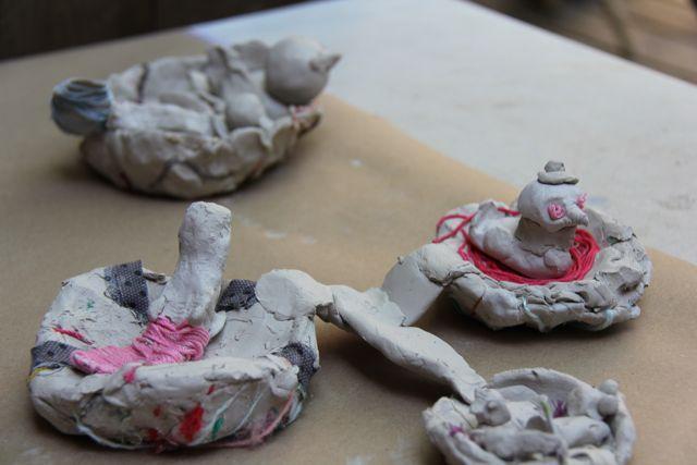Clay dries in sun