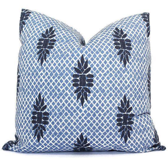 boca indigo blue wedgewood trellis decorative pillow cover throw pillow accent pillow pillow
