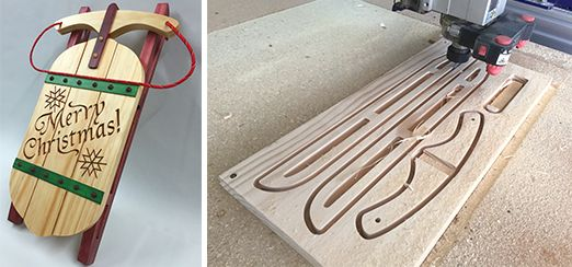 FREE CNC Project:Christmas Sled #free #cnc #cncproject #vectric #aspire #make #sled #christmas #decor #handmade #free