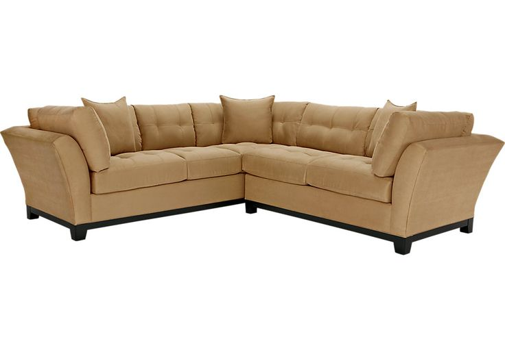 Cindy Crawford Home Metropolis Peat 2 Pc Sectional  - Sectional Living Rooms (Beige)