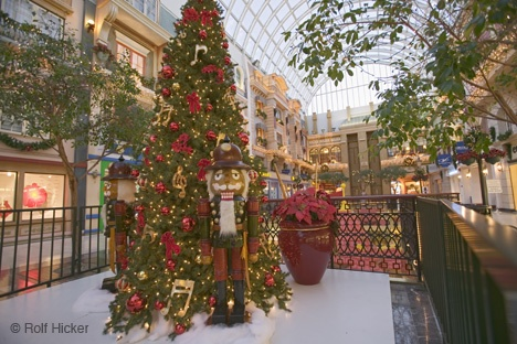 Christmas at the West Edmonton Mall in the city of Edmonton, Alberta, Canada.