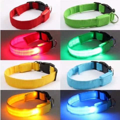 Dog Collar With LED Safety Light. Walk Your Pet Safely at Night. Visit Today for the Latest Deals! While Stocks Last! #BigStarTrading.
