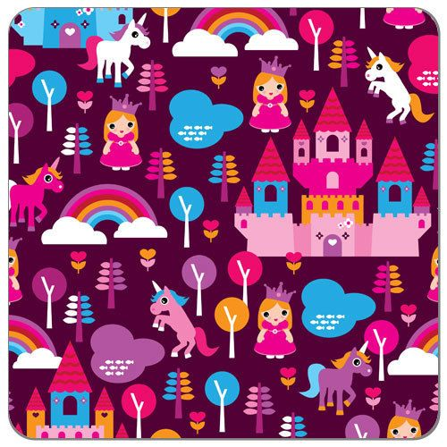 Fairy Tale Princess Print PUL Fabric   Diaper Sewing Supplies