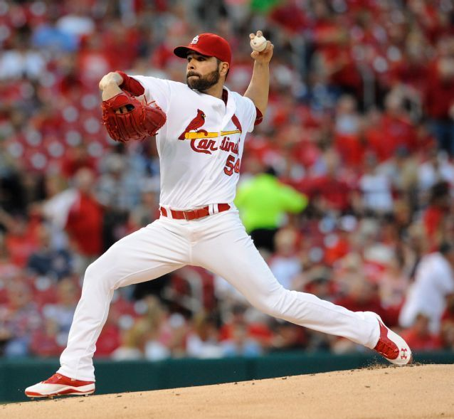 starting pitcher Jaime Garcia throws against the Miami Marlins during the first inning. Cards won the game 3-1. 8-14-15