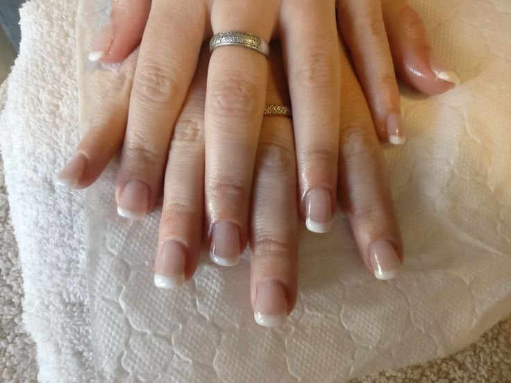 first set of nails with tips