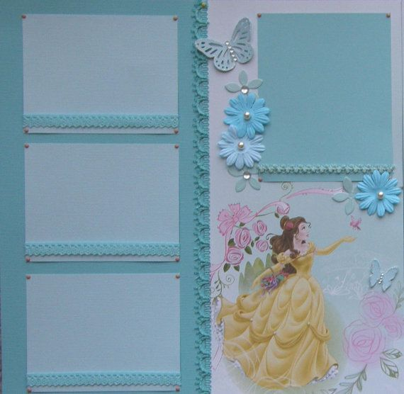 12x12 double page scrapbook layout Disney's Belle by ntvimage, $24.99