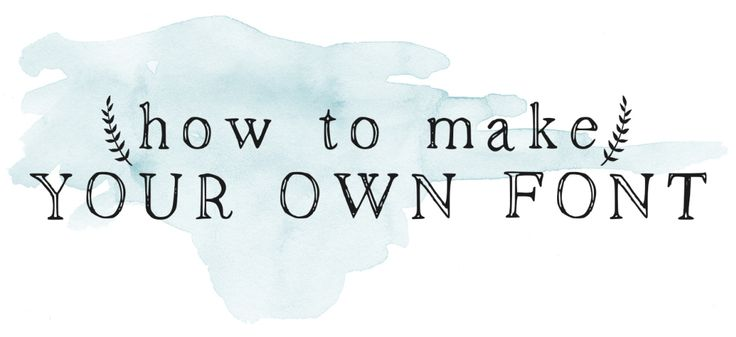 How to Make Your Own Font | The Postman's Knock :: Includes a free download of the font in this image.