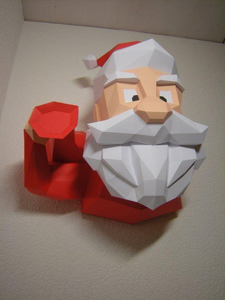 Santa Claus Paper Santa Paper Model 3d Model Papercraft Etsy Paper Crafts Paper Crafts Diy Paper Sculpture