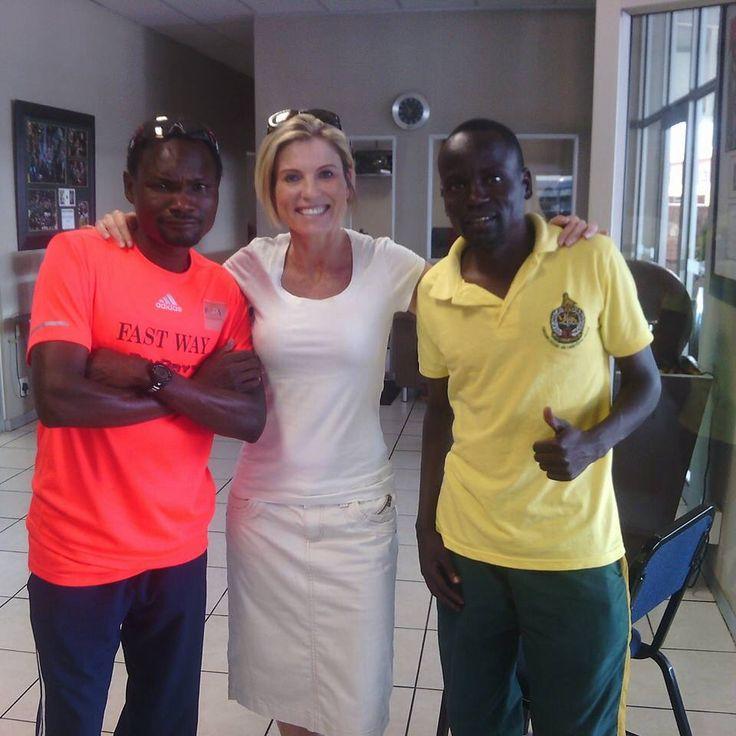 #Muzhingi #FastwayAC #comrades2015 #comradesmarathon2015 #Trurays#PoobieNaidooSports with Lindy Truter and world #IAU50km champ Collen Makaza