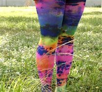 All kinds of crazy colored/patterned tights, leggings, and other stuff