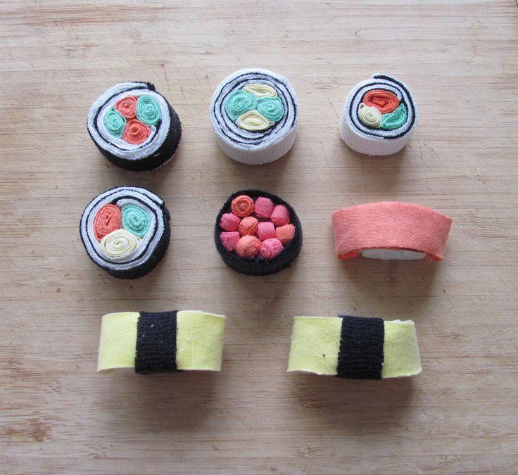 sushi, fabric, t-shirts