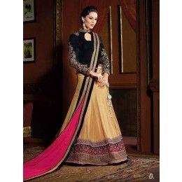 Golden Art Silk Lehenga Choli Online