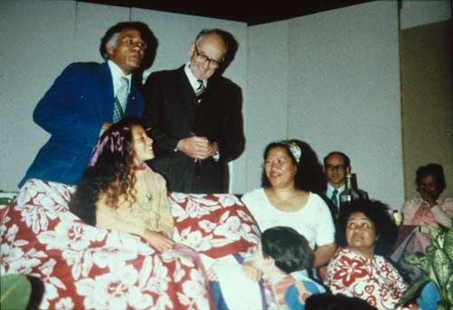 A young Niuean at his hair-cutting ceremony