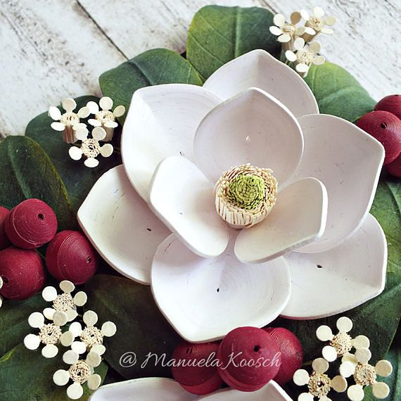 White Magnolia Wall Art Mother S Day Gift Idea 3d Paper Quilling Spring Flowers Botanical Decor Paper Anniversary Gift For Her Paper Gifts Anniversary Quilling Paper Quilling