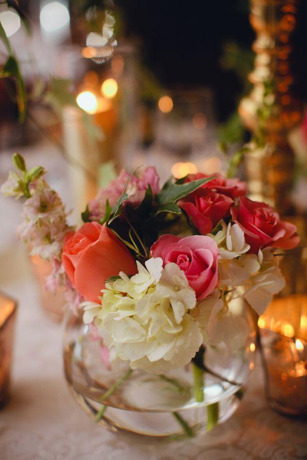 Small Fishbowl Wedding Centerpiece & 117 best Fish bowls images on Pinterest   Christmas decor Christmas ...