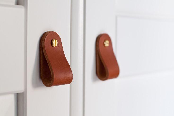 Leder Knäufe Leder Türgriffe Leder Tür zieht Leder-Knöpfe Camp - türgriffe für küchenschränke