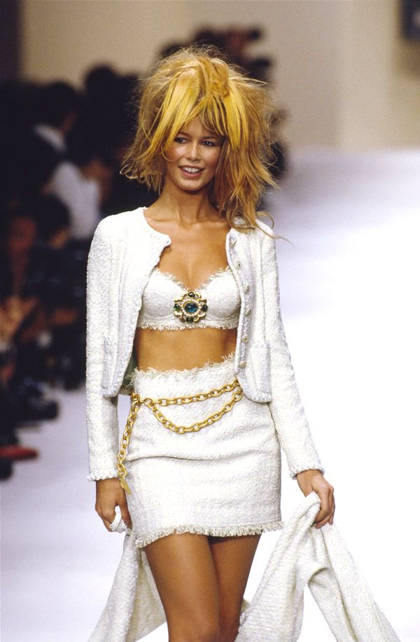 I'm inspired by the gold chain belts from the early 90s -claudia for chanel 1994