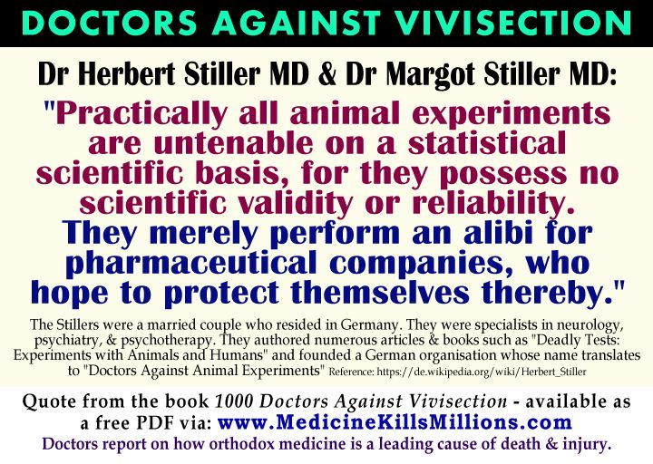 Doctors Against Vivisection Animal Research Experiments