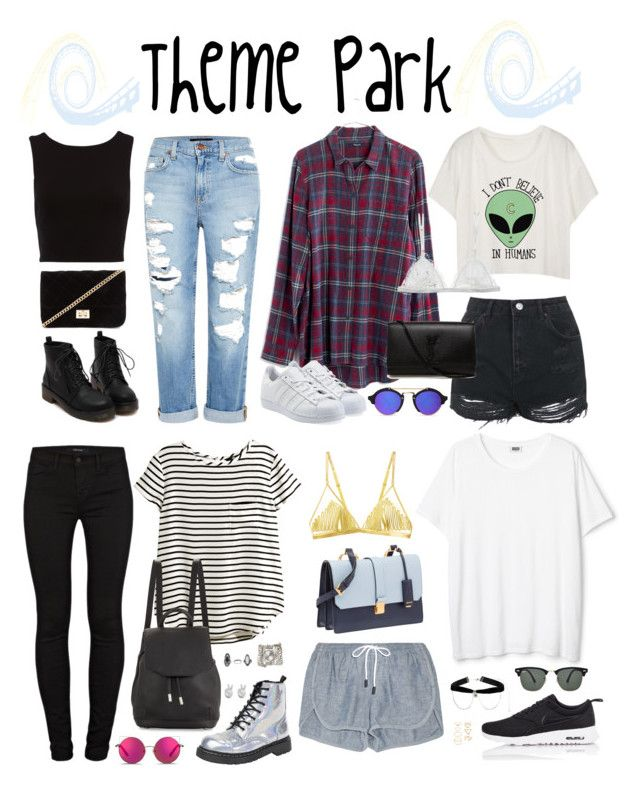 """""""Halsey-Inspired Theme Park Outfits"""" by halseys-clothes ❤ liked on Polyvore featuring Genetic Denim, Forever 21, Topshop, Madewell, Curriculum Vitae, adidas Originals, Yves Saint Laurent, Matthew Williamson, J Brand and H&M"""