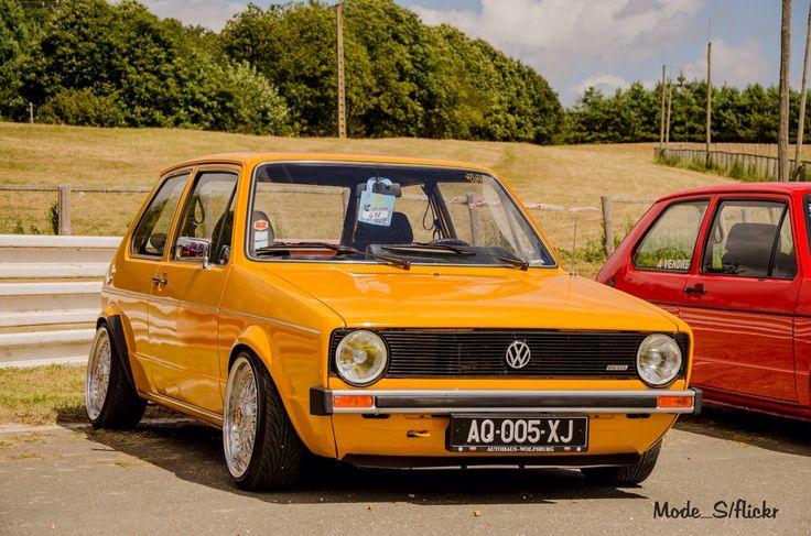 Mk 1 Golf. Nice in yellow