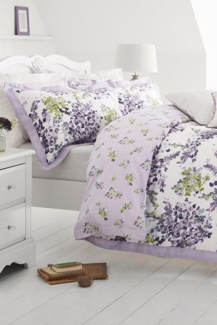 Buy Cotton Sateen Watercolour Floral Mauve Bed Set Online Today At Next:  Israel