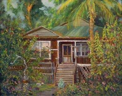 """""""Lahaina Cane House"""" by Janet Spreiter at Maui Hands"""