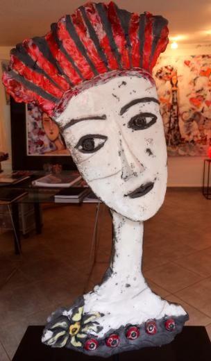 Mary Larsson - Raku portrait de femme