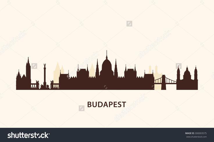 Budapest Skyline Silhouette Stock Vector Illustration 300003575 ...