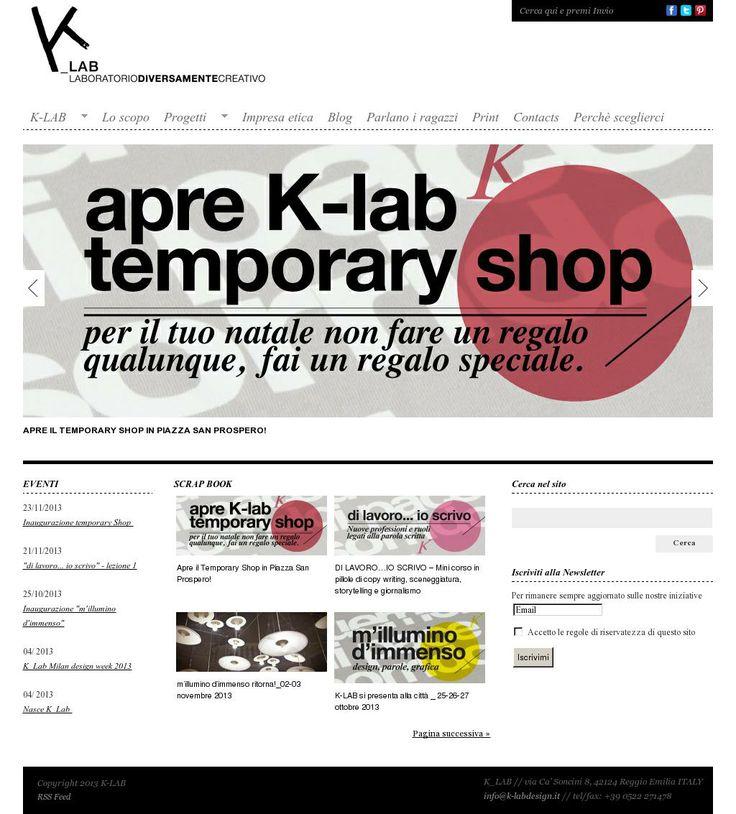 The website 'http://www.k-labdesign.it/' courtesy of @Pinstamatic (http://pinstamatic.com)
