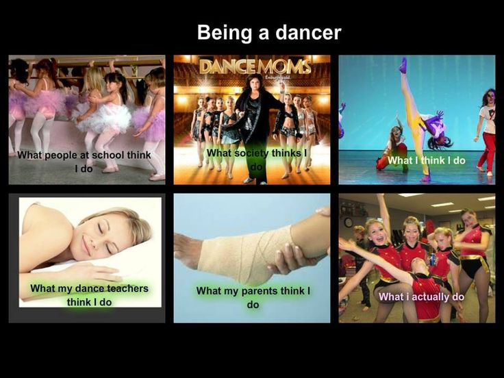 Pretty much the same with irish dance.... Kids at school think I am a leprechan, everybody around thinks its like dance moms,I am always thinking I am going to do better than I actaully do, My teachers are always say that they think that I am always practicing one thing, my parents think I always have an Injury, BUT I AM ALWAYS HAVING FUN WITH MY FRIENDS