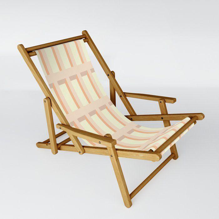 Buy Modern Beach Sling Chair By Bitart On Society6 Modern Outdoor Folding Sling Chair Bitart Society6 Chair Slingchair F Sling Chair Chair Folding Stool