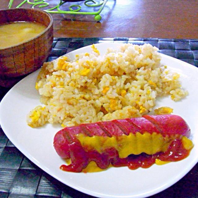 家族の朝食はフィリピン風モーニングプレートだったので 自分はそれをランチに頂きました - 47件のもぐもぐ - 自宅ランチプレート by マニラ男
