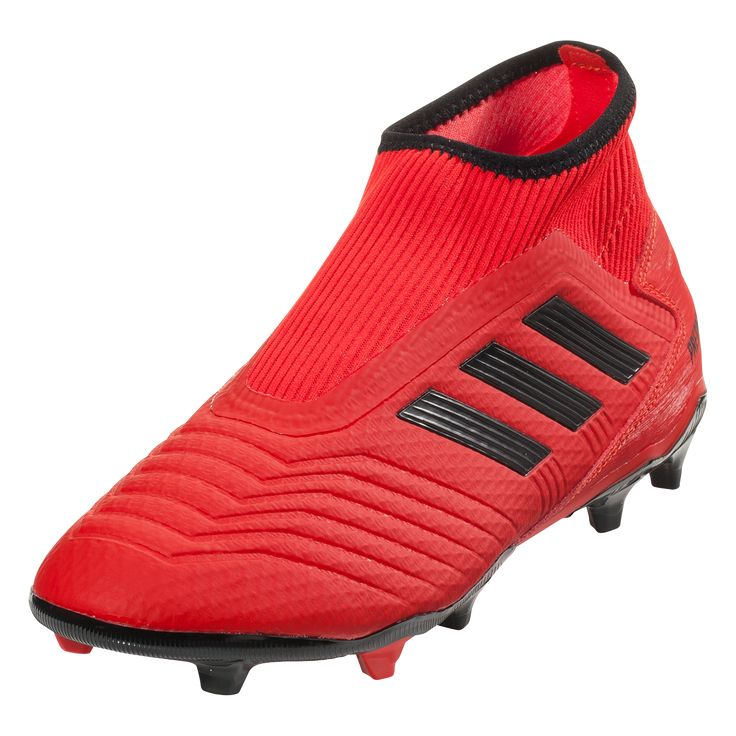 adidas Predator 19.3 Laceless FG Soccer Cleat Active Red