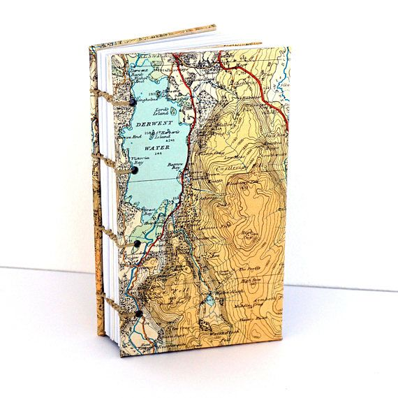English Lakes Journal Recycled Map Notebook Map Journal