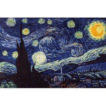 Sternenklare Nacht - Van Gogh berühmte gemälde reproduktionen
