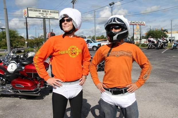 SEE AND BE SCENE: Ian Leatherman and Sterling Worth at the 4th Annual Goodwill Undy 500 motorcycle run that started at the Lowcountry Harley Davidson, 9/16.: Harley Davidson, Charleston Living, Goodwill Undies, Sterling Worth, Ian Leatherman, 500 Motorcycles, Lowcountri Harley, 4Th Annual, Annual Goodwill