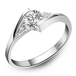 Бесплатная доставка обручальное кольцо женская красота высокое качество ювелирные изделия из белого золота платины покрытием циркон кольцо, Ты моя судьба! R011