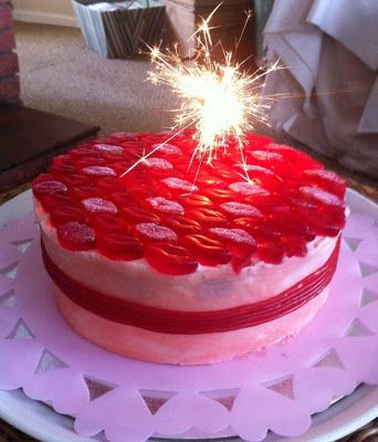 Sweetie cake recipe, lip cake, strawberry cake, strawberry laces cake, haribo sweets