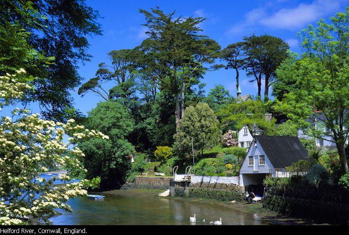 Helford River, Cornwall, England.