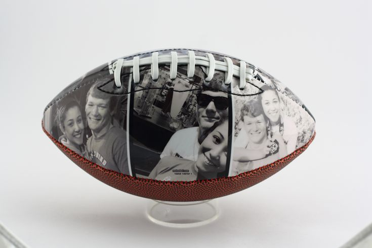 Customized football with your own pictures and text a