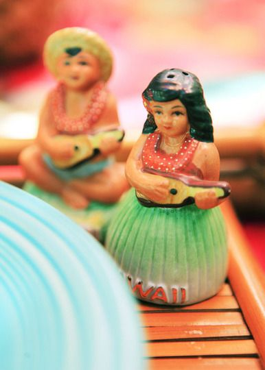 vintage hula salt and pepper shakers