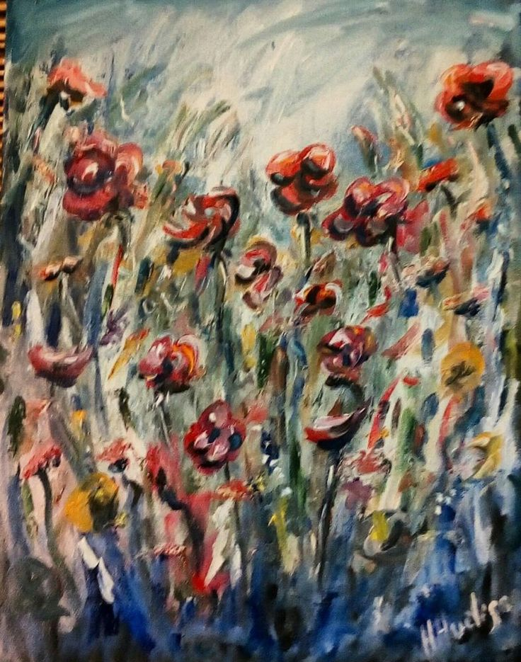 "'The Happy Garden' Original Oil Painting 16"" x12"""